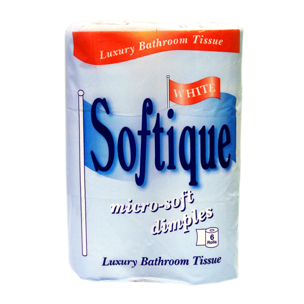 Softique 2 Ply 6 Pk White