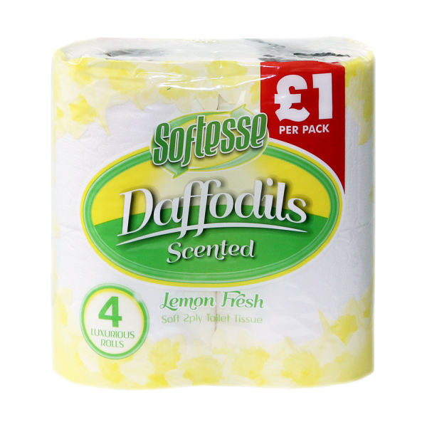 Softesse 4 PK 2 PLY Daffodils Lemon