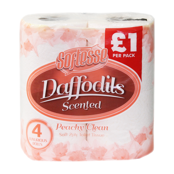 Softesse 4 PK 2 PLY Daffodils Peachy Cream